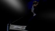 Astrid Griesbach von der Ernst Busch hält einen Impulsvortrag.